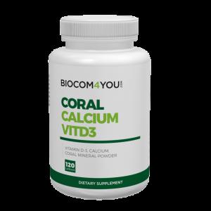 Coral Calcium VitD3 120 caps.